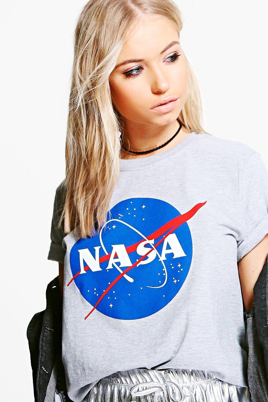 Camiseta gris de licencia marga con nasa pSYap1nq