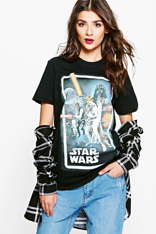 80e1cf4e7005 Tasha Star Wars Licence T-Shirt | Boohoo
