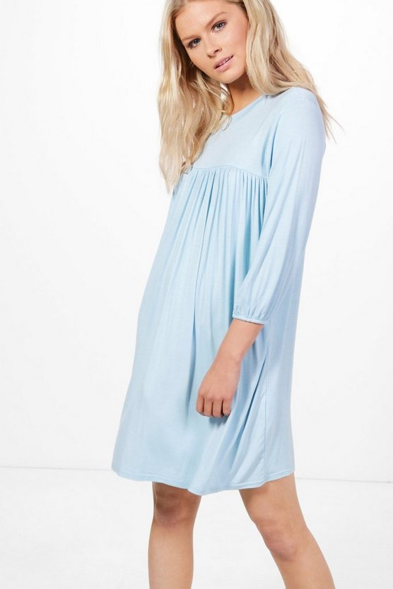 Sandra 3/4 Sleeve Smock Dress
