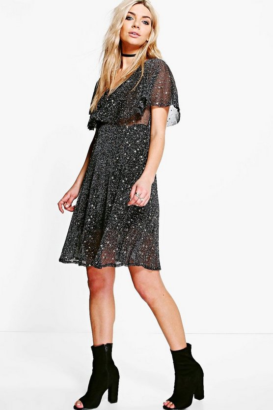 Boutique Lottie Metallic Star Skater Dress