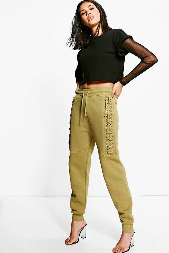 Harper Lace Up Side Sweat Joggers