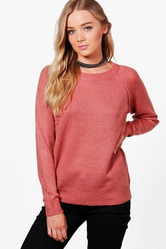 Megan Seam Detail Boxy Jumper