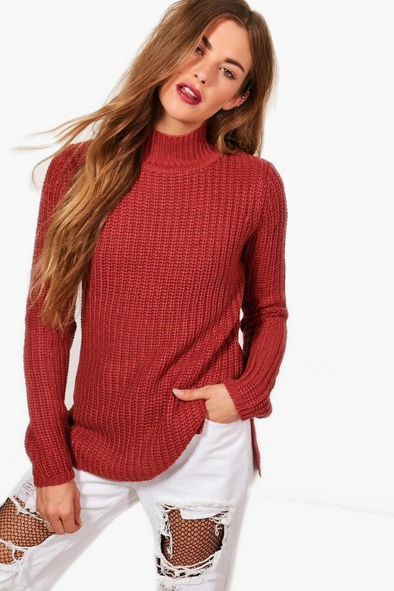 Imogen Turtleneck Fisherman Jumper