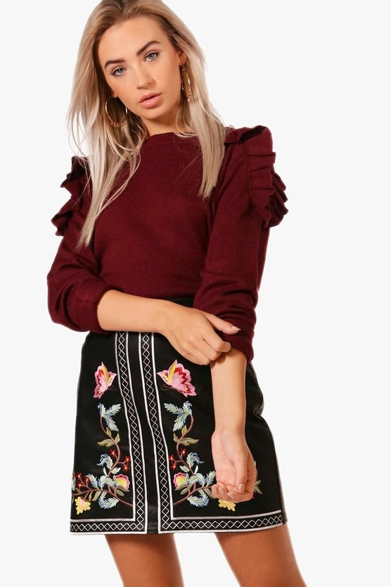 Niamh Ruffle Shoulder Jumper