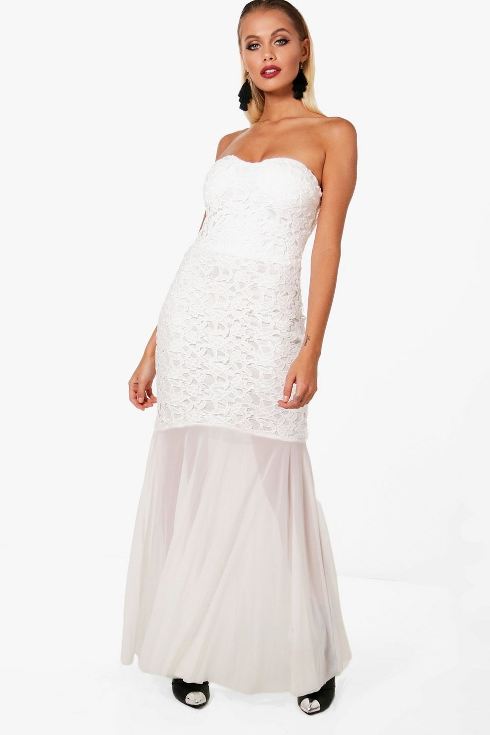 fbdde620e0 Boutique Bandeau Fishtail Maxi Dress