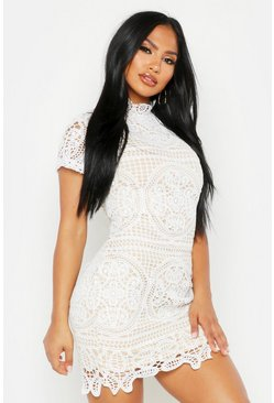 Ivory Boutique Crochet Lace Bodycon Dress