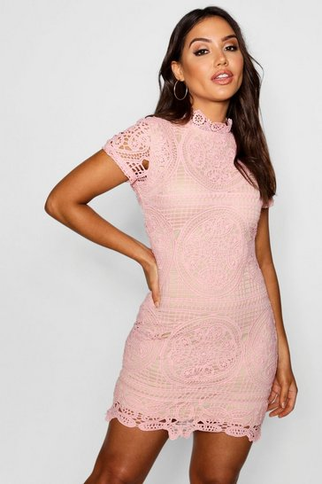 Womens Rose Boutique Crochet Lace Bodycon Dress