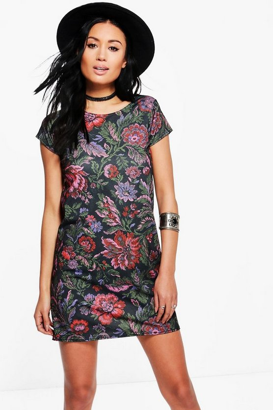 Scarlett Floral Short Sleeve Shift Dress