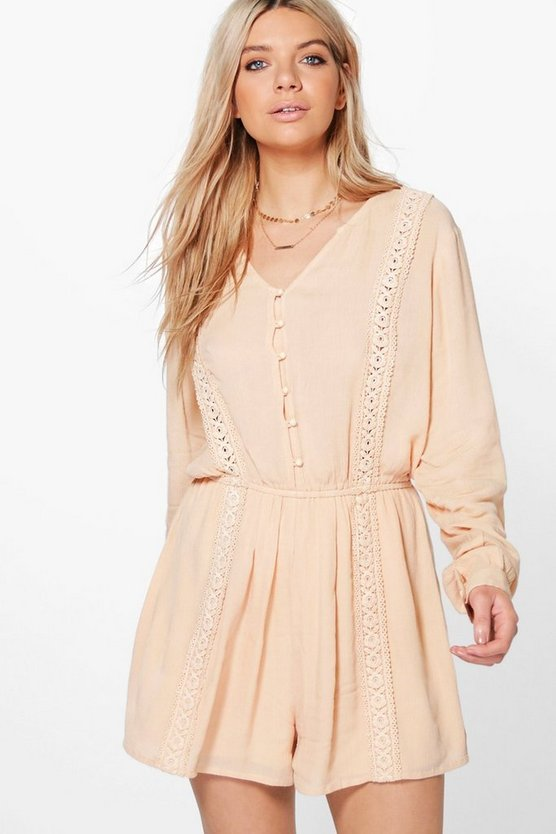 Amelia Crochet Trim Playsuit