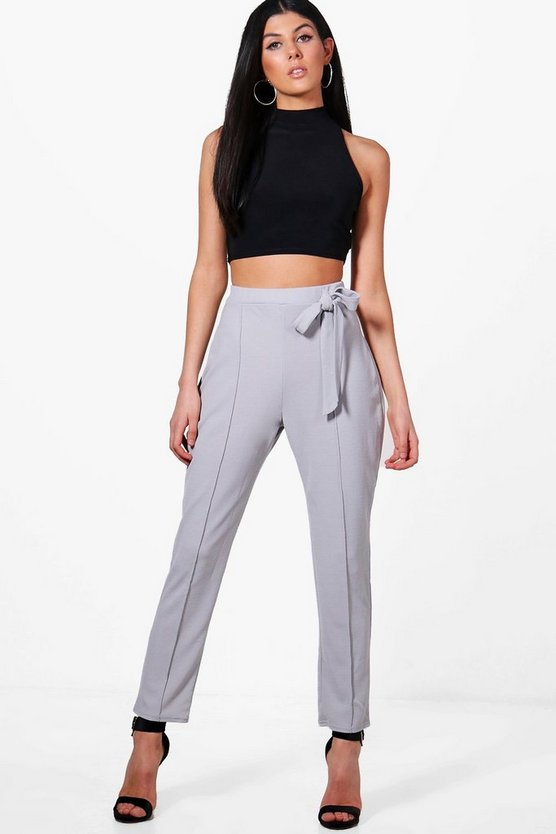 Tara Tie Waist Trouser & Crop Co-ord