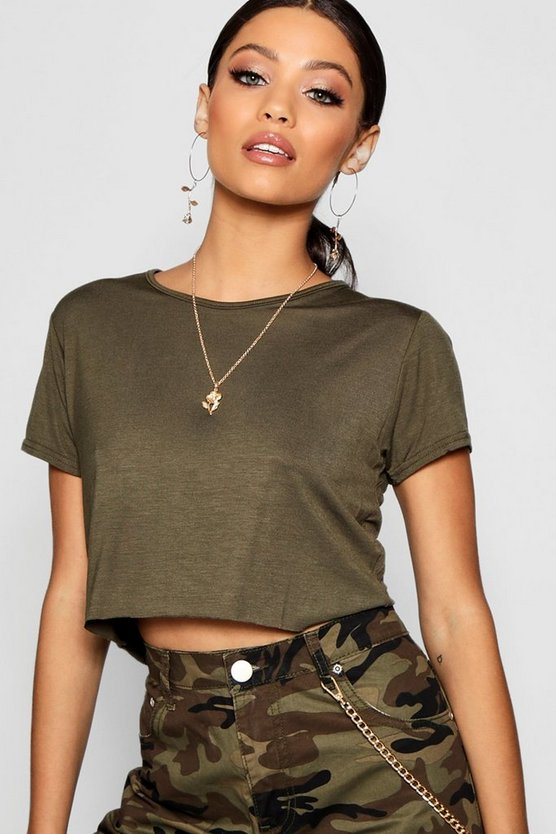 Oversized Basic Short Sleeve Crop Top