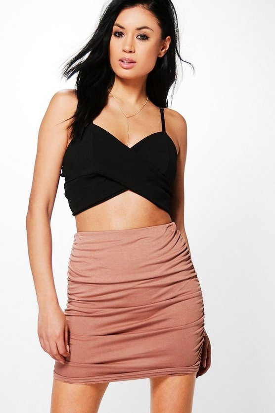 Astoria Rouched Side Jersey Mini Skirt