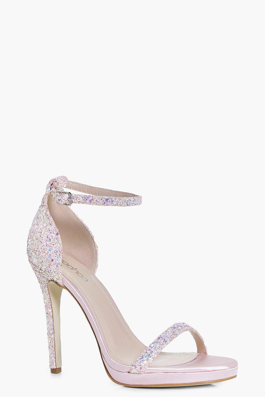 1e03d158ce02 Darcy Bridal Glitter Two Part Heel
