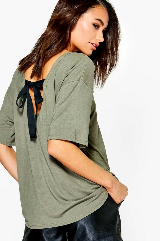 Tie Back Oversized T-Shirt