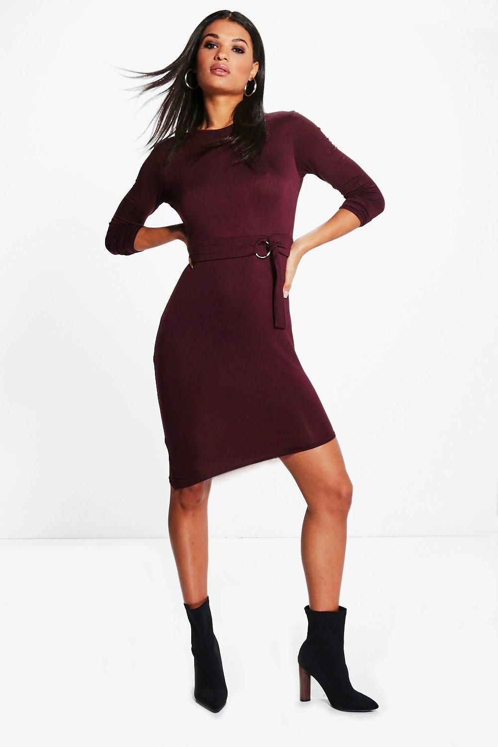 Zoe O-Ring High Neck Bodycon Dress