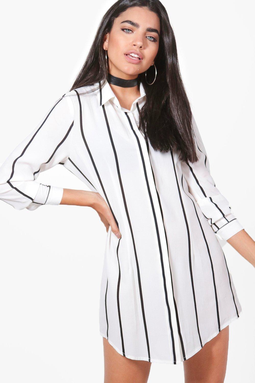 Boohoo-vestido-estilo-camisa-a-rayas-anchas-chiara-para-Mujer
