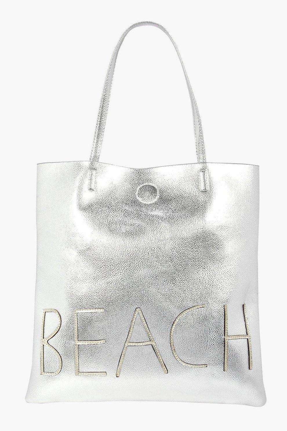 9b22ee2986 Lillie Metallic Beach Shopper Bag