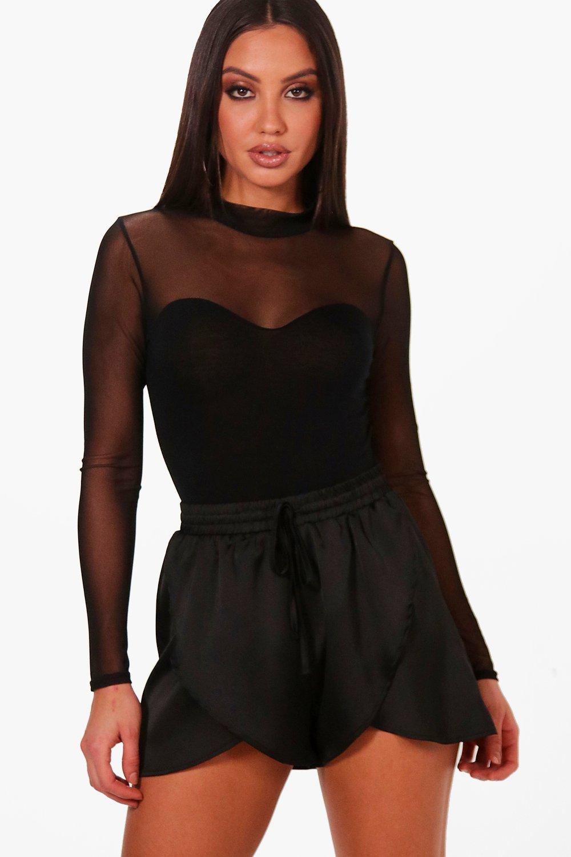 malla negro Body corpiño estilo de zqpIawt