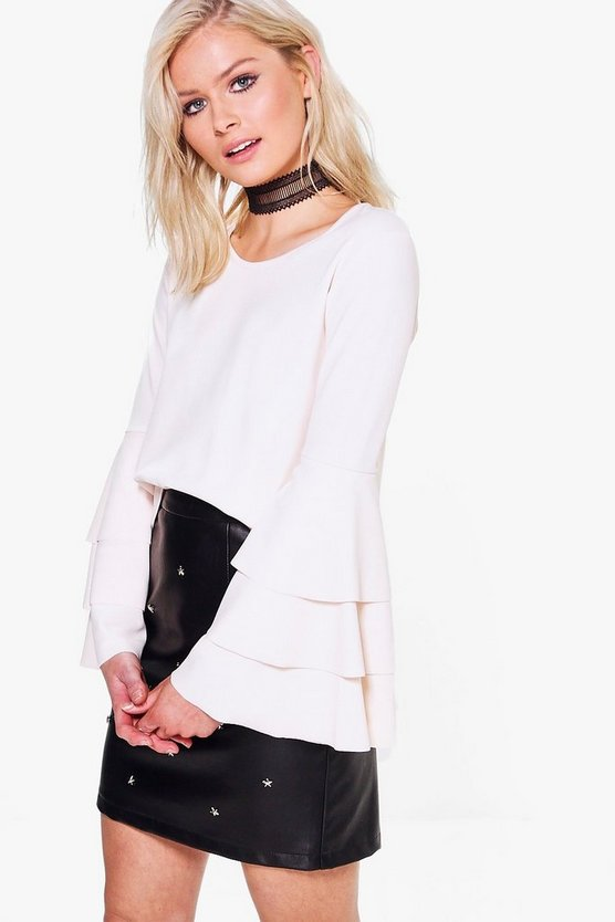 Eve Double Frill Sleeve Top