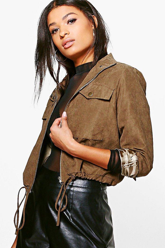 rebecca veste fonctionnelle courte | boohoo