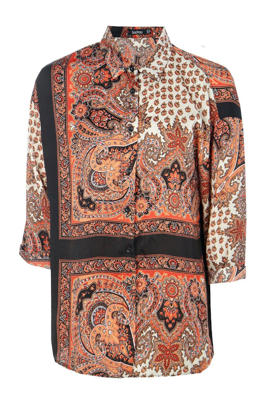 Multicolor con cachemir estampado de Camisa qXF7aPa