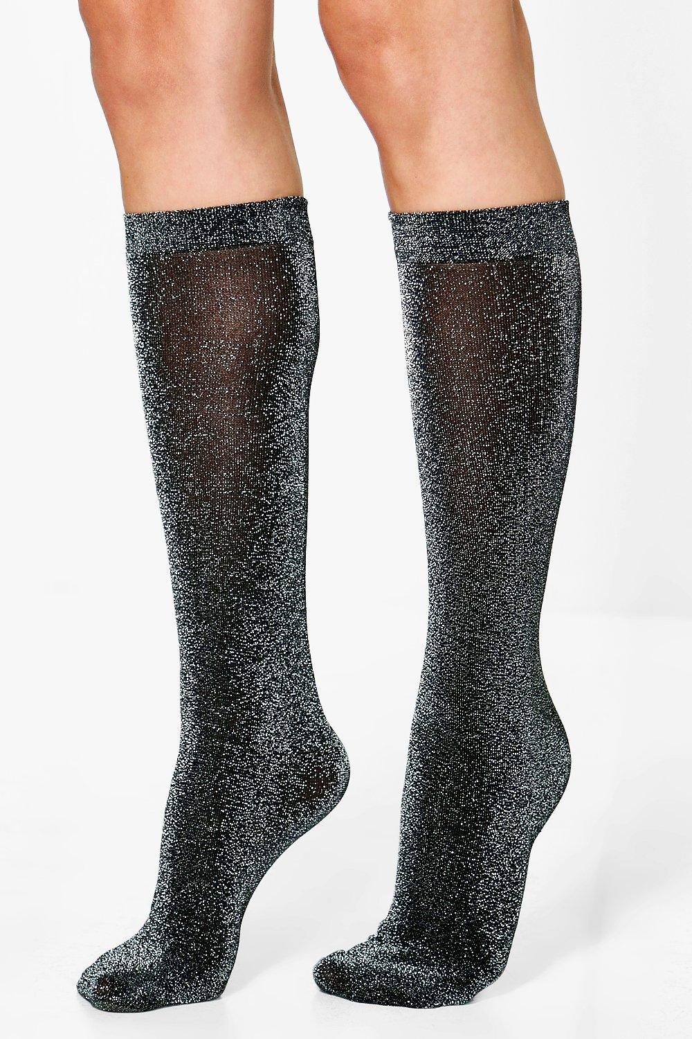 015553e42f0 Macy Glitter Shimmer Knee High Socks