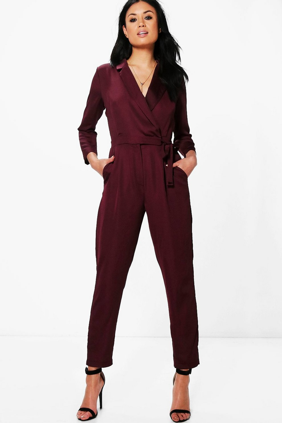 7b39d0c14486 Premium Satin Tailored Jumpsuit