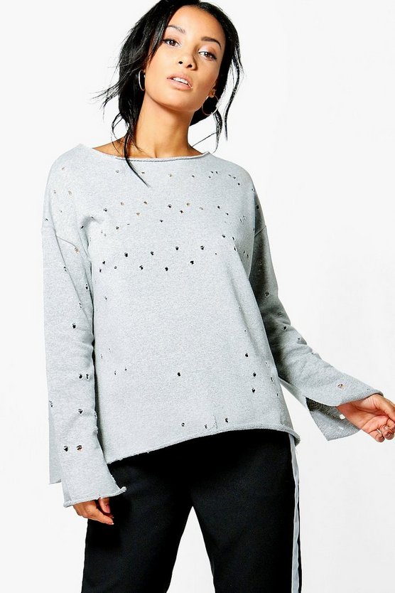 Jessica Distressed Sweatshirt