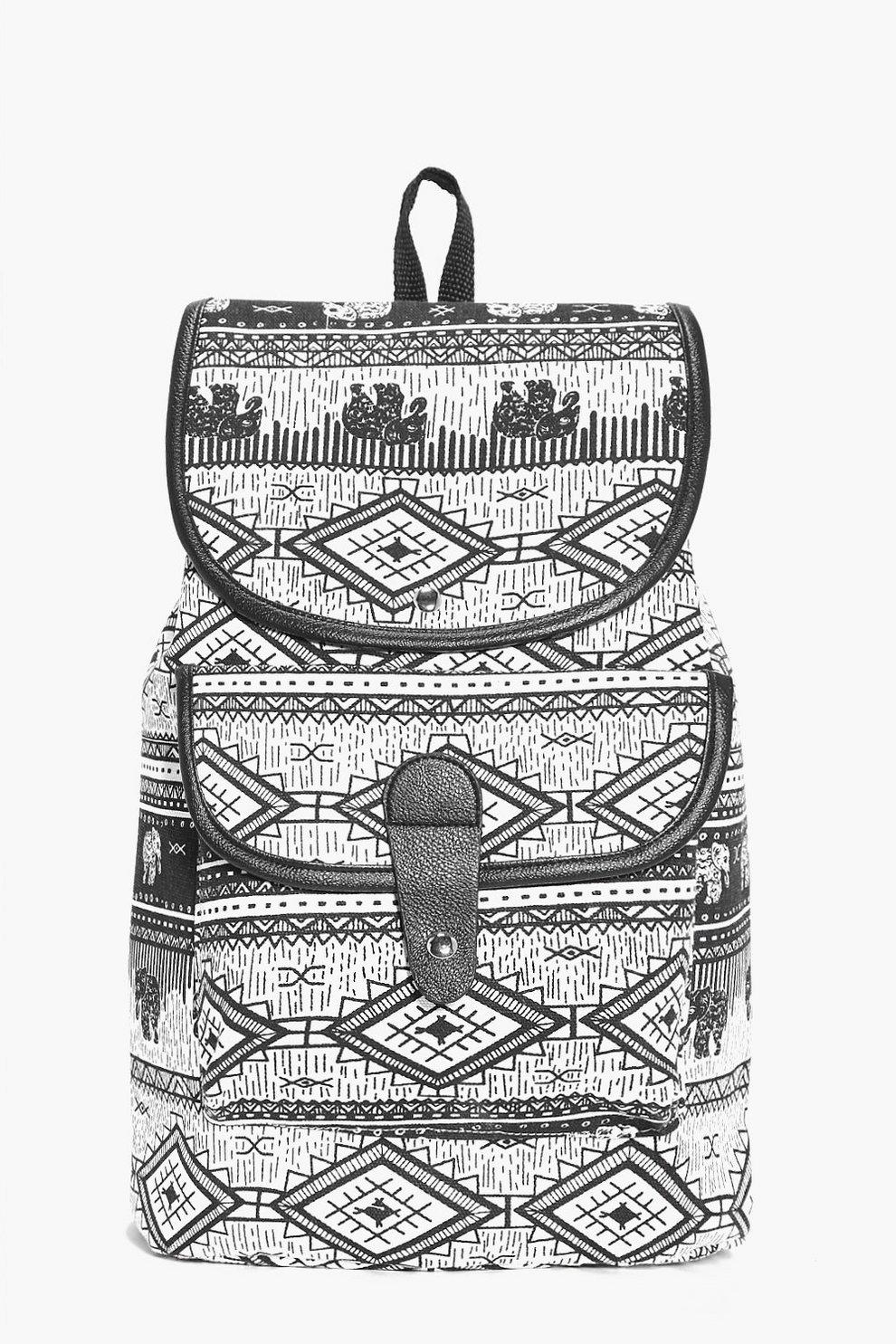 74ff52fd722b Elise Elephant Aztec Print Rucksack   Boohoo