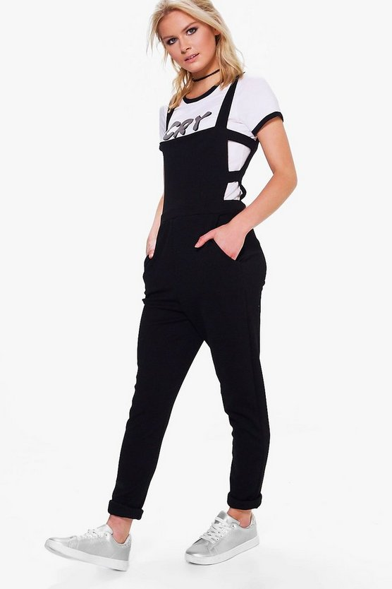 Cut Side Pinafore Style Dungarees