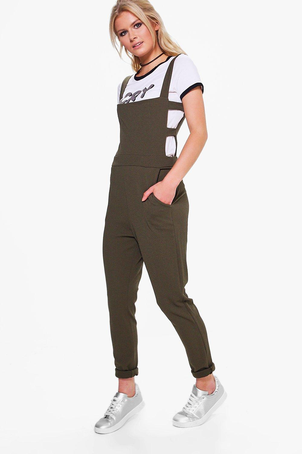 77c8cd1f51 Cut Side Pinafore Style Dungarees. Hover to zoom