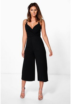 Womens Beth Ring Detail Culotte Jumpsuit