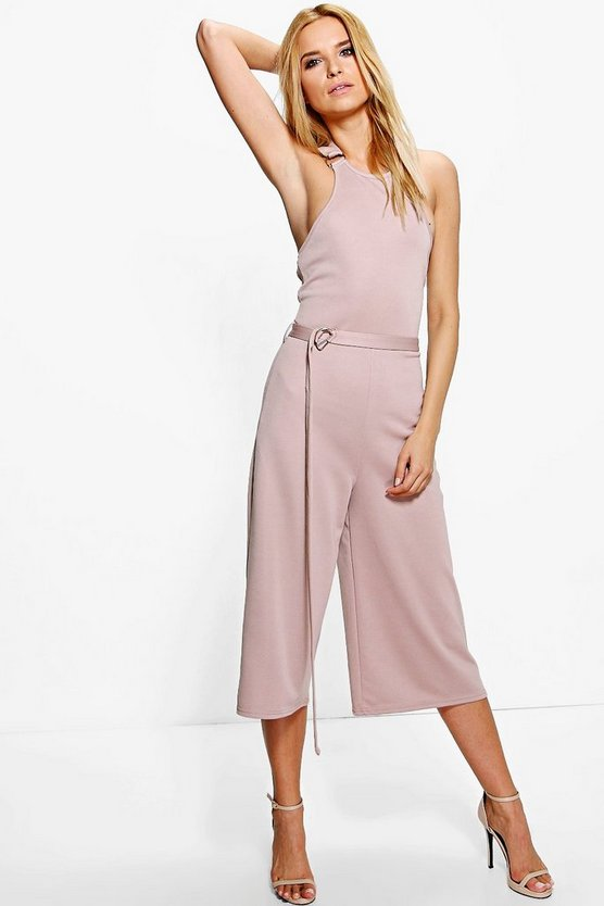 Dana Buckle Detail Culotte Jumpsuit