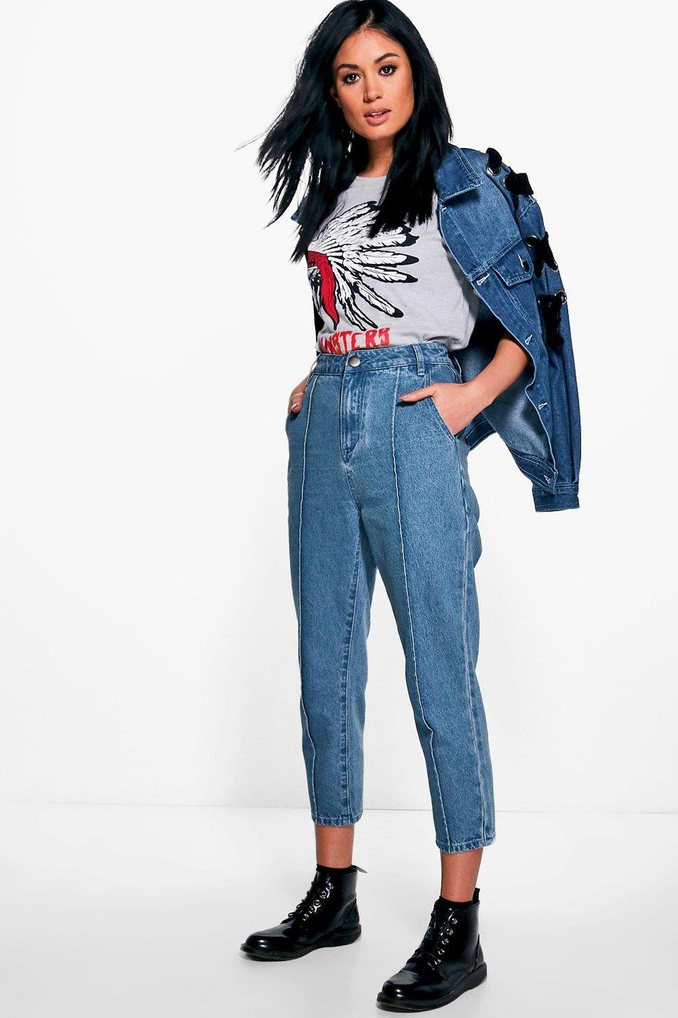 b9ada755018 Sophie Seam Front Mom Jeans