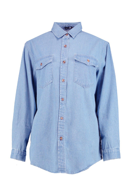 Azul Azul denim denim extragrande extragrande denim Camisa extragrande denim Azul Camisa Camisa Camisa extragrande FO6q6Yz