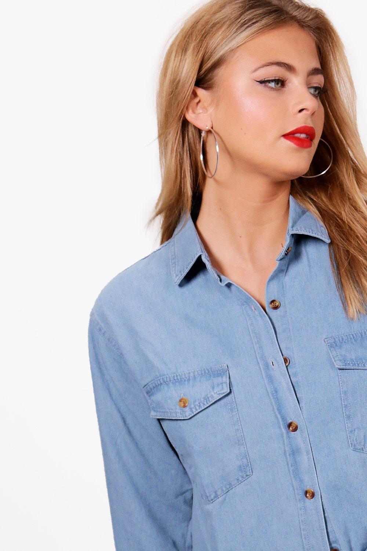 Camisa extragrande extragrande extragrande denim denim Camisa Azul denim Azul Camisa qZwfRaR1