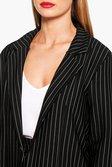2f7b716a7e35b ... Womens Black Molly Pinstripe Tailored Blazer alternative image