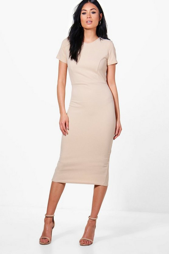 Fitted Midi Tailored Dress
