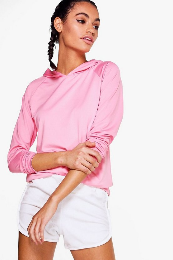 Womens Pink Eliza Athleisure Cut Out Hoodie