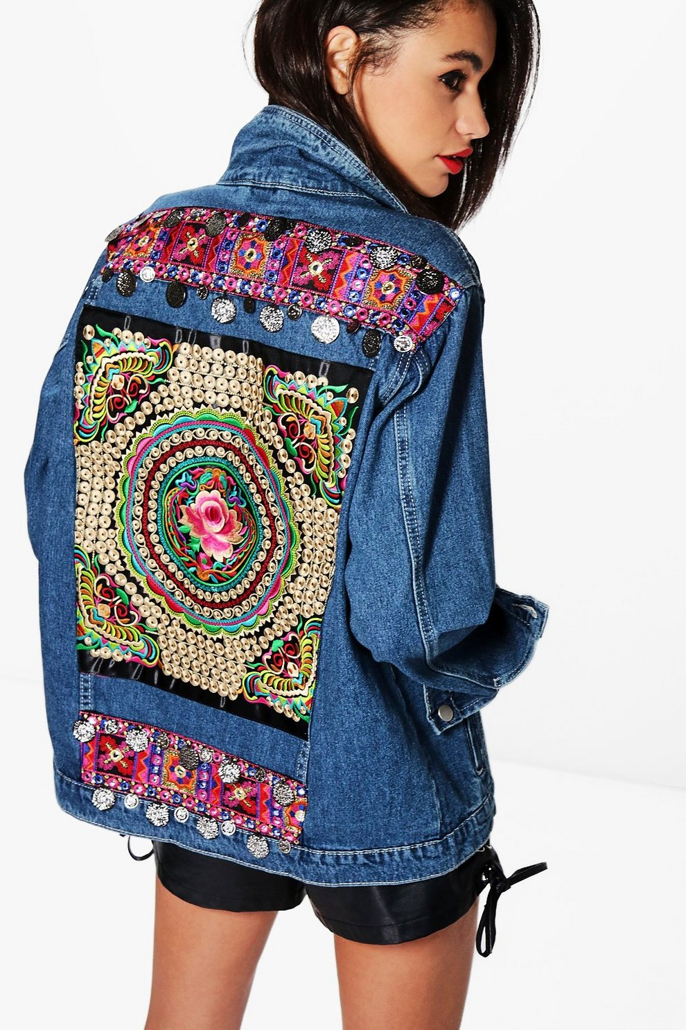 ddb13a02fc0 Embellished Denim Festival Jacket