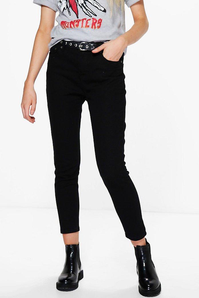 f63ce7c5b9b9 Jess Mid Rise 30' Leg Skinny Jeans   Boohoo