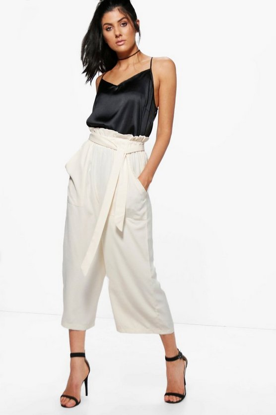 Paperbag Waist Pocket Side Culottes