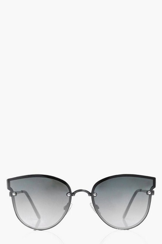 Ombre Lense Frameless Cat Eye Sunglasses