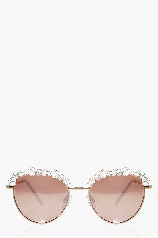 Floral Enamel Retro Sunglasses