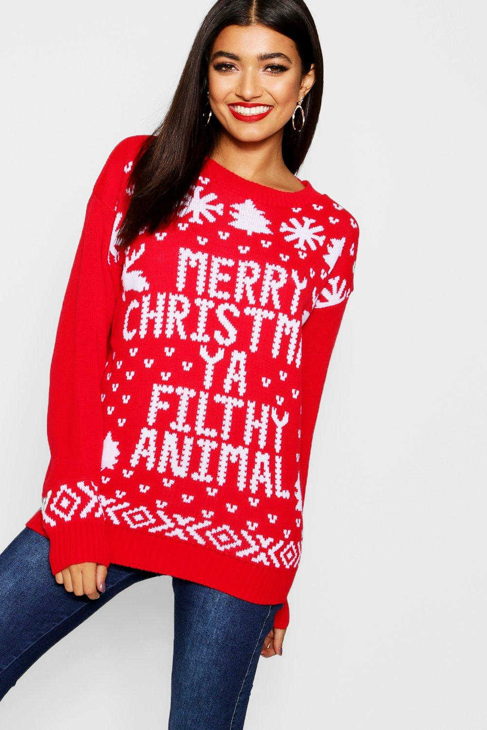 Rojo ya Jersey filthy christmas animal