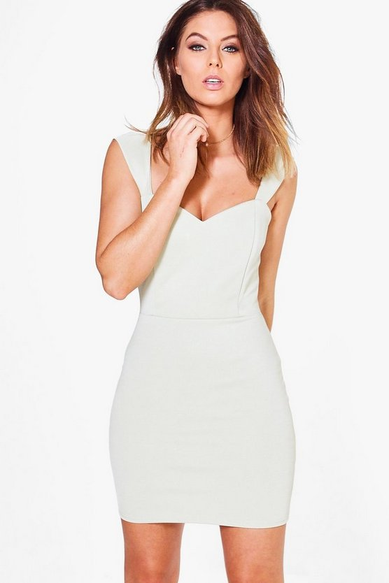 Sage Colette Sweetheart Bodycon Dress