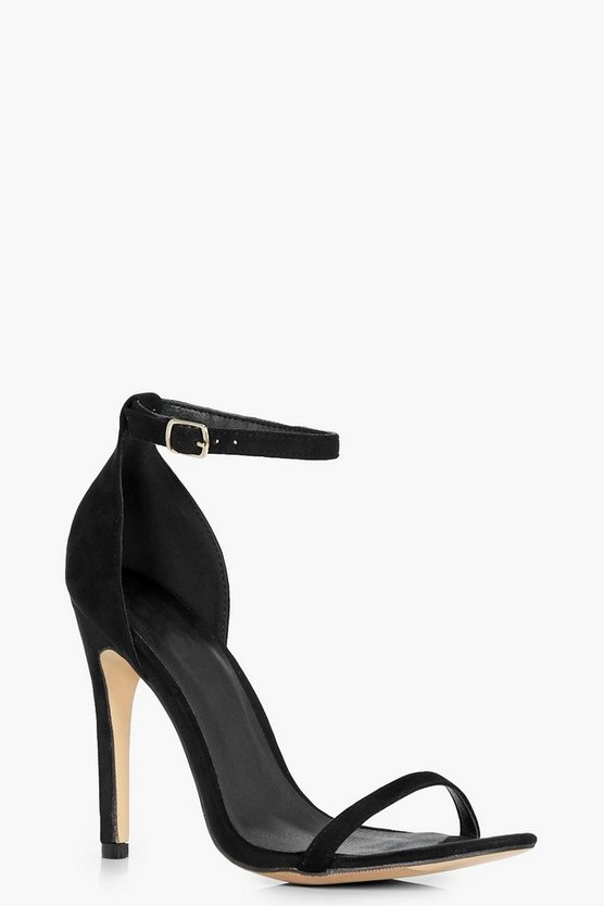 Black Olivia Two Part Sandals