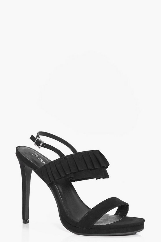 Taylor Frill Trim Two Part Heels