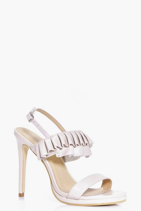 Martha Frill Trim Two Part Heels