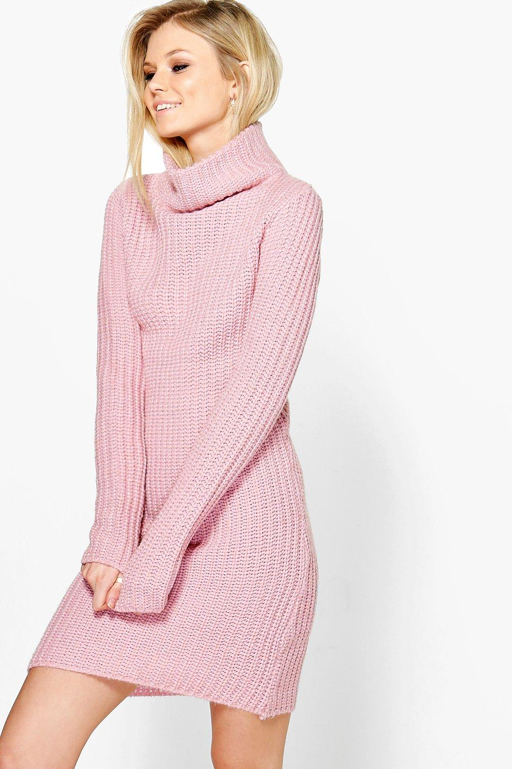84dafab6ad Darcy Funnel Neck Soft Knit Jumper Dress